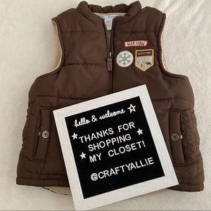 """🐻 Janie and Jack """"Bear Lodge"""" Puffer Vest 